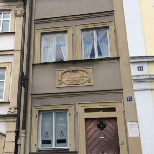 Das schmale und museale E.T.A. Hoffmann-Haus am Schillerplatz 26 in Bamberg. © 2017, Münzenberg Medien, Foto/BU: Stefan Pribnow