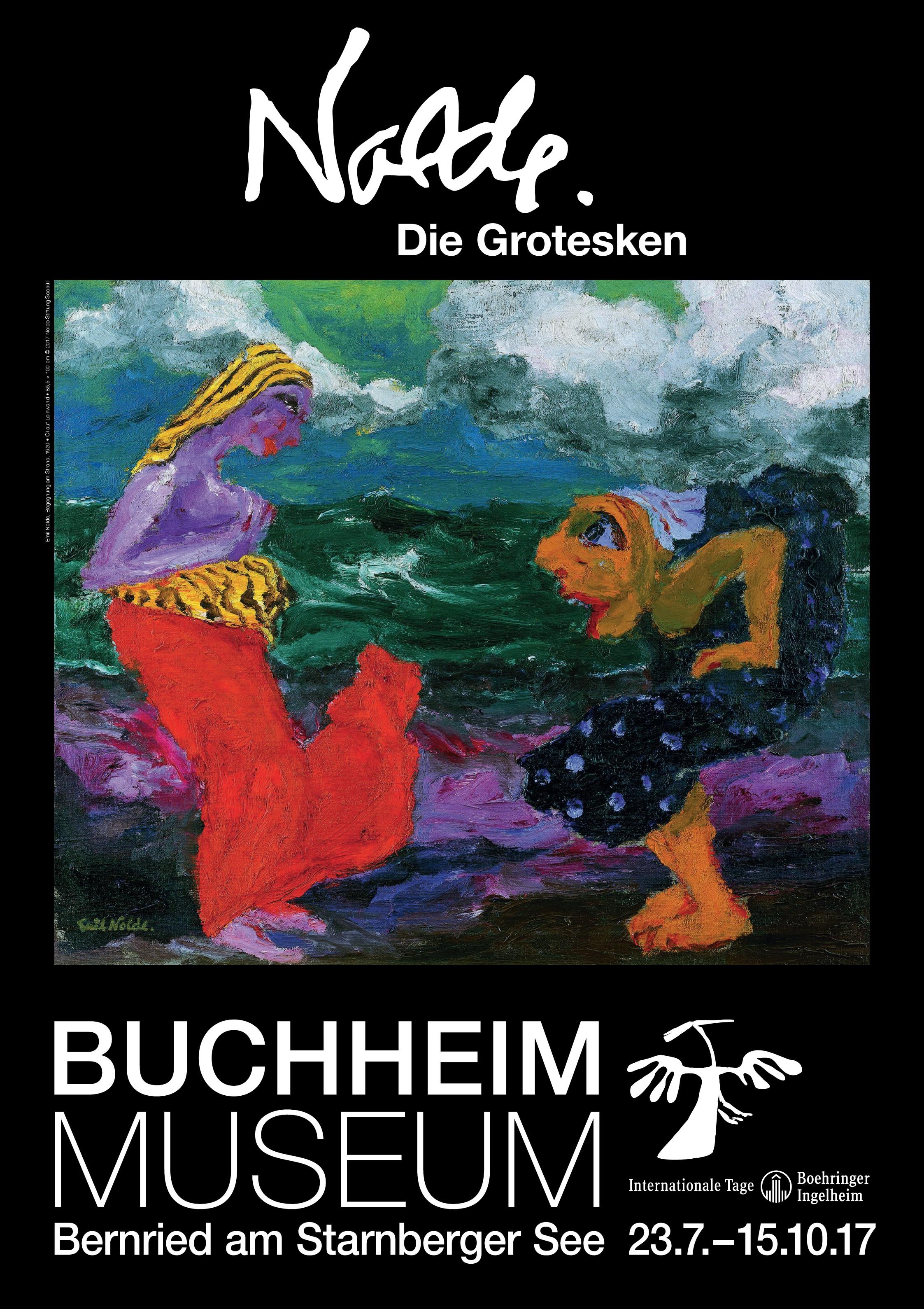 """Die Ausstellung """"Nolde. Die Grotesken"""" finden im Sommer 2017 im Buchheim Museum statt."""