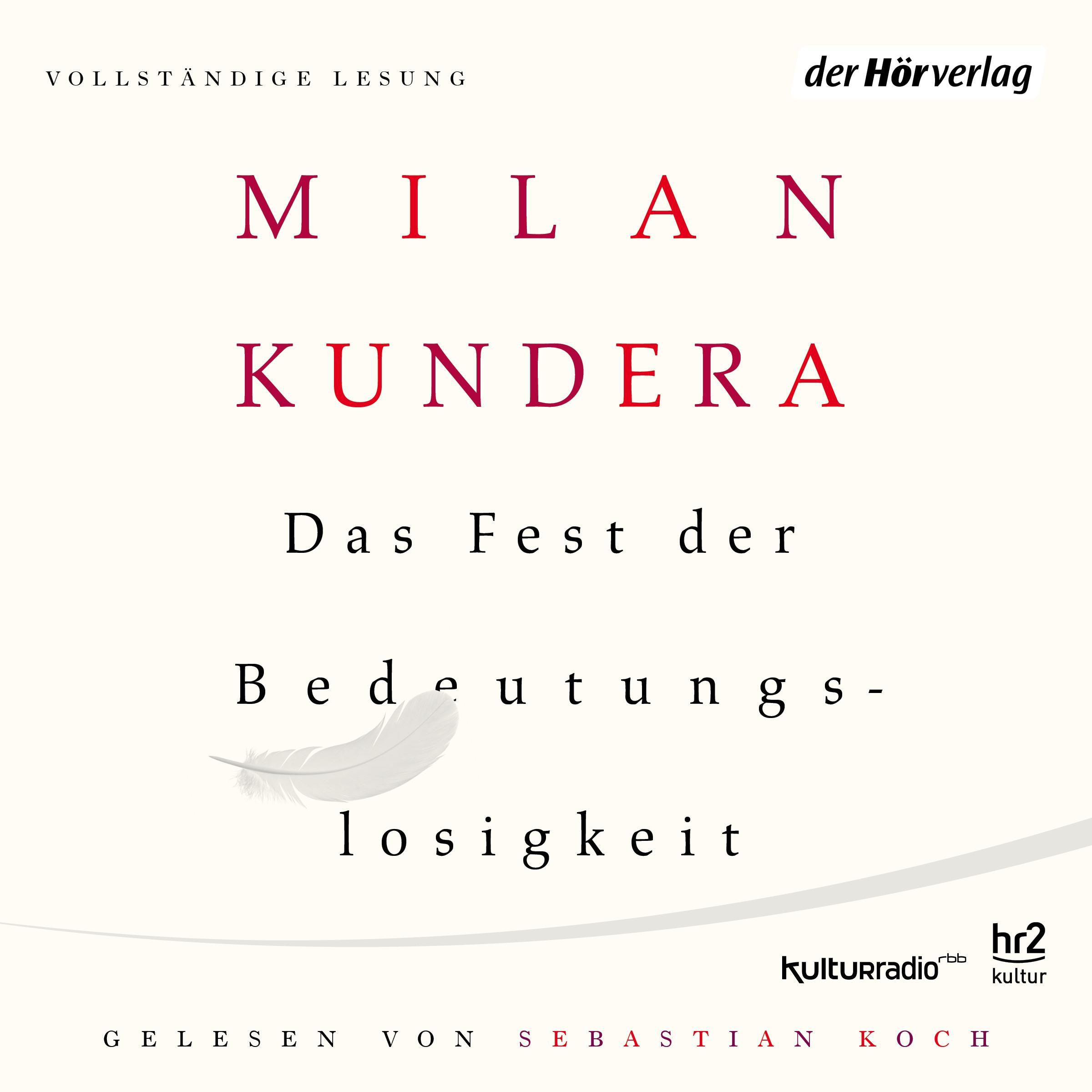 Milan Kundera. Das Fest der Bedeutungslosigkeit.