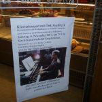 Plakat zu Klavierkonzert mit Dirk Fischbeck.