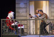 Weihnachten auf dem Balkon.