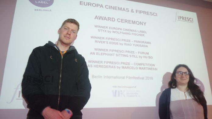 FIPRESCI_JURY-Mitglieder Henning Koch und Teresa Vena auf der Berlinale 2018 im Sony-Center