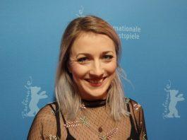 """Schauspielerin und Kabarettistin Kathi Wolf, Hauptdarstellerin """"Landrauschen""""."""