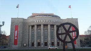 Volksbühne Ost am 16. März 2016 noch mit Räuberrad.