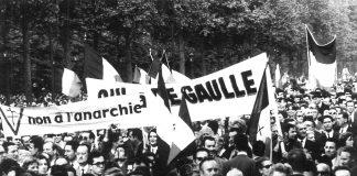 Inge Werth: Demonstration gegen die Regierung von Charles de Gaulles, Paris, 24. Mai 1968..