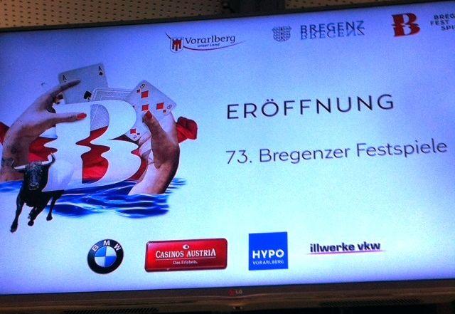 Eröffnung der 73. Bregenzer Festspiele.