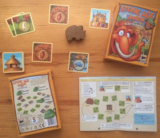 """Das Kartenspiel """"Stone Age Junior"""" von Marco Teubner."""
