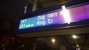 Erneuter Zugausfall bei der Berliner S-Bahn.