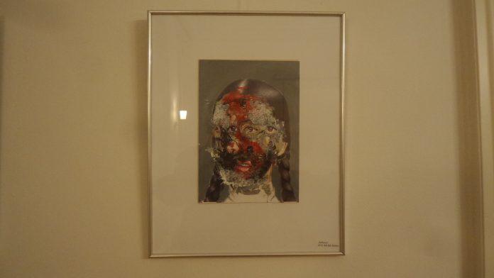 Bild in der Ausstellung im Nachbarschaftshaus Urbanstraße 21 in Kreuzberg am M41er