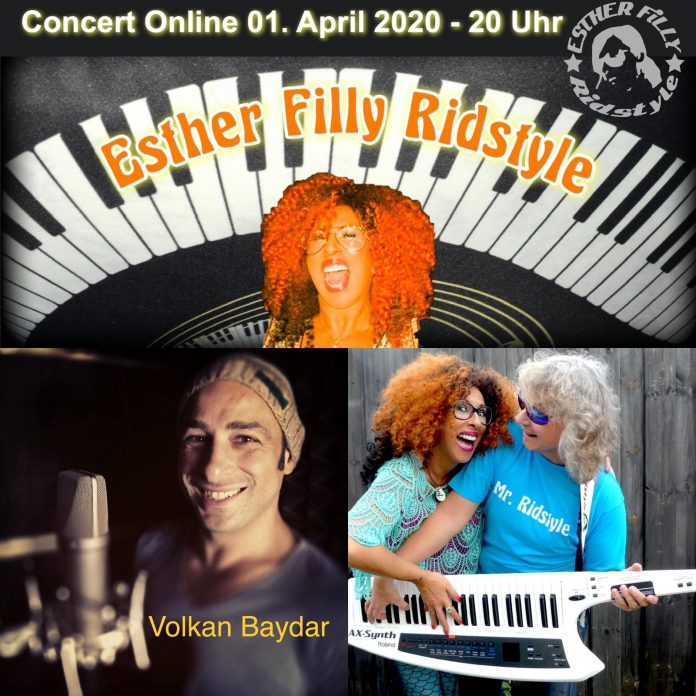 Online-Konzert mit drei Teilnehmern in Niedersachsen, gesendet 60 Minuten auf sozialen Medien.