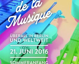 Sommer-Sonne-Sing-a-Song zur 22. Fête de la Musique in Berlin am 21. Juni 2016
