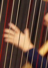 Der Feiertag macht's möglich: Morgens Harfe und sax live. Das Jerusalem-Duo begleitet ökumenischen Gottesdienst in Mainz am Tag der deutschen Einheit
