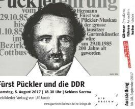 """""""Fürst Pückler und die DDR"""" – Ein Vortrag von Ulf Jacob im Schloss Sacrow in Potsdam"""