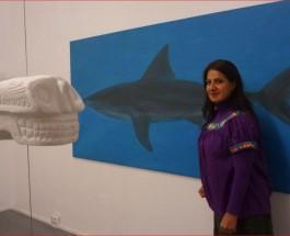 """Haifisch im Tapir. Finissage von Rosaana Velascos erster Einzelausstellung """"Enigma"""""""